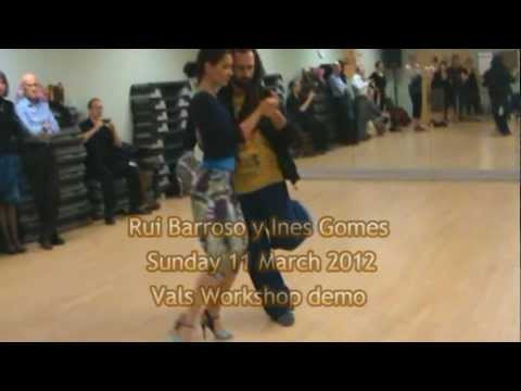 Rui Barroso y Inês Gomes Workshop Tango Vals demo 11 March 2012