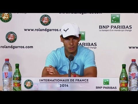 Press conference Rafael Nadal 2014 French Open SF