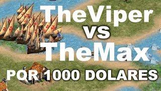 LA BATALLA MAS EPICA DEL AGE 2! THEVIPER VS THEMAX POR 1000 DOLARES