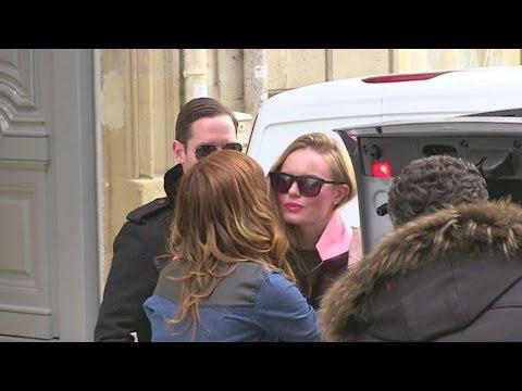 Kate Bosworth and husband Michael Polish at Dior HQ in Paris