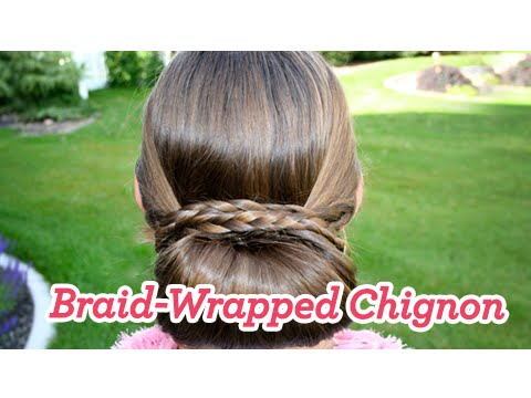 Braid-Wrapped Chignon | Updos | Cute Girls Hairstyles Music Videos
