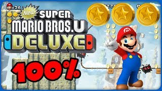 6-1 Fuzzy Clifftop ❤️ New Super Mario Bros. U Deluxe ❤️ 100% All Star Coins