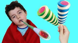 Yusuf Hasta Oldu! Kid Has a Cold | Funny Kids Video