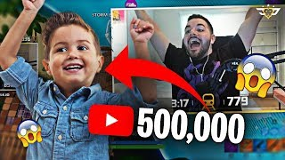 CONNOR HIT 500,000 YOUTUBE SUBSCRIBERS!!! THANK YOU! (Fortnite: Battle Royale)