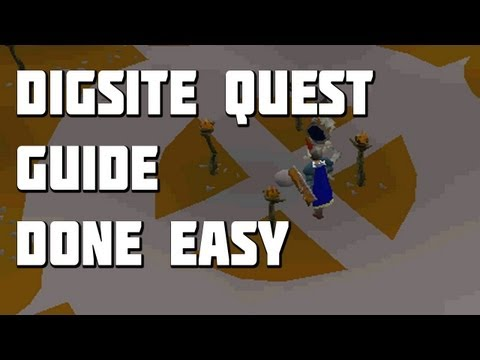Runescape 2007 – The Dig Site Quest Guide – Quest Guides Done Easy – Framed