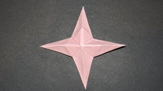 How To Make An Origami Four Pointed Star
