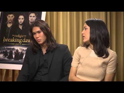 Twilight: Breaking Dawn Leah (Julia Jones) and Seth (Boo Boo Stewart) Clearwater Interview