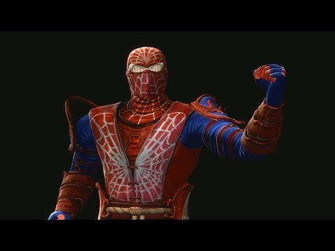 Mortal Kombat 9 Fatalities Rain Spiderman video
