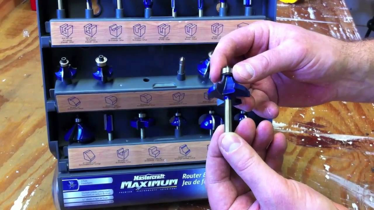 Mastercraft Maximum Router Bit Set Review Youtube