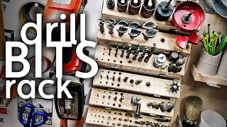 Making a Drill Bits Holder - Shop Organization Vlog