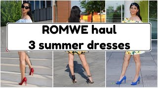 Crossdresser - Romwe haul -  3 dresses with high stiletto heels pumps