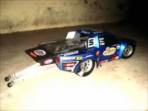 Baja HPI 5SC 2 speed DRAG RACE 30.5cc long rod nitromethane - 8