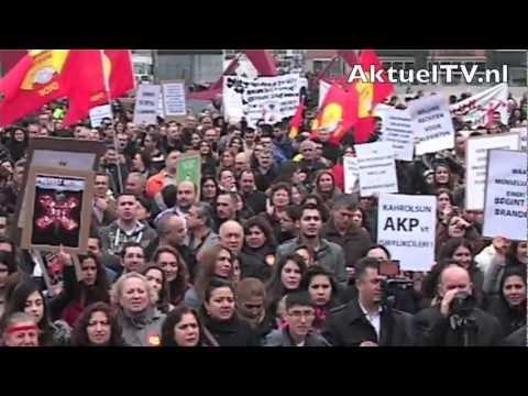 AktuelTVnl Alevitische jongeren Erdogan is een moordenaar / protestbijeenkomst in Rotterdam