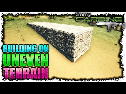 ark how to build on uneven ground