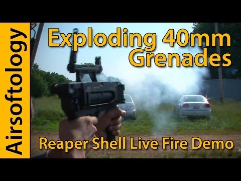 Exploding Airsoft 40mm Grenades!!! | M320 Launcher + Reaper Projectiles | Airsoft Pyrotechnics