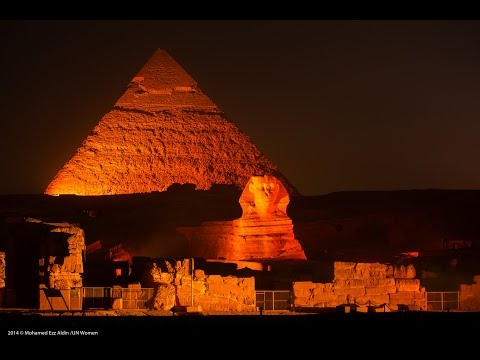 UN Women Egypt: The Pyramids of Giza Lit Orange