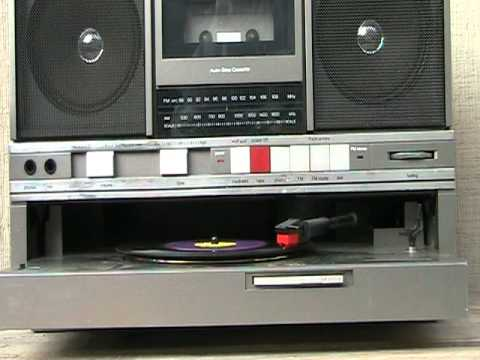 Panasonic Sg J500 Vinyl Record Player Cassette Radio