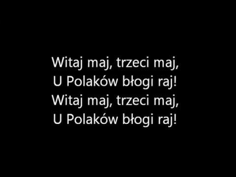 Rajnold Suchodolski - Mazurek Trzeciego Maja (tekst)