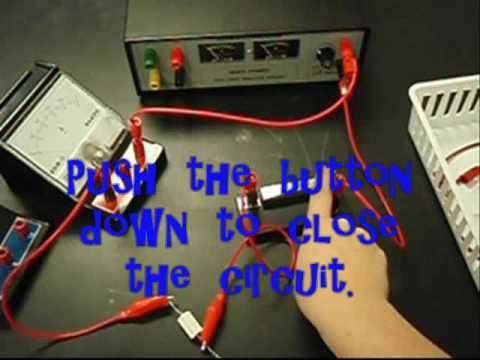 ohms law lab report Ohms law lab report of ohm's law is that the current through a resistor is proportional to the ohm's law in another experiment using a piece of apparatus that he built, ohm.