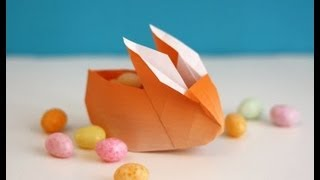 Origami Easter Bunny Container/basket (full Hd)