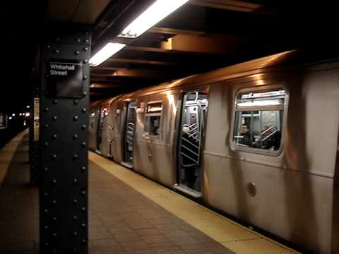 57th Street & Coney Island Bound R160B Siemens Q Trains Via The R Line @ Whitehall Street
