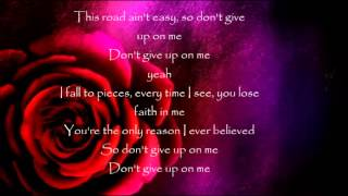 Dont Give up on me lyrics Veronica Ballestrini
