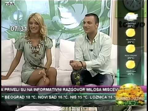 Tamara Stojmirov  sexy crossed legs,nova voditeljka TV Kosava