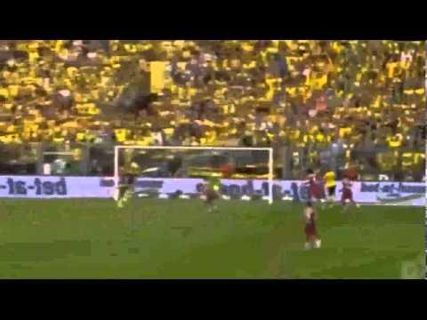 Funny Gol Celebration with Spiderman Mask   Pierre Emerick Aubameyang   Borussia vs Bayern 2 0
