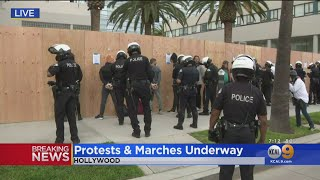 Protesters Arrested For Unlawful Assembly, Curfew Violations In Hollywood