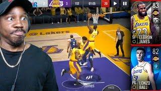 LONZO THROWS NASTY ALLEY-OOP TO LEBRON! NBA Live Mobile 19 Season 3 Gameplay Ep. 10