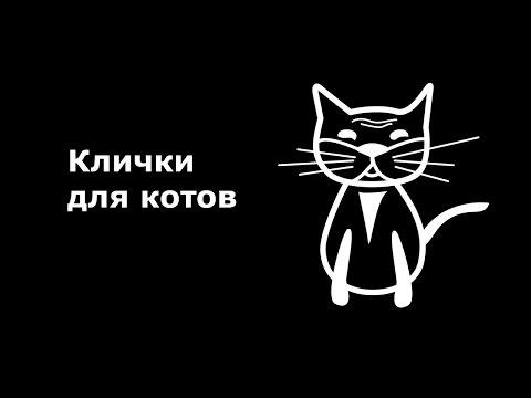 Список кличек для котов