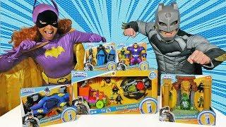 Imaginext DC Super Friends Toy Challenge - Batgirl Vs. Batman ! || Toy Review || Konas2002