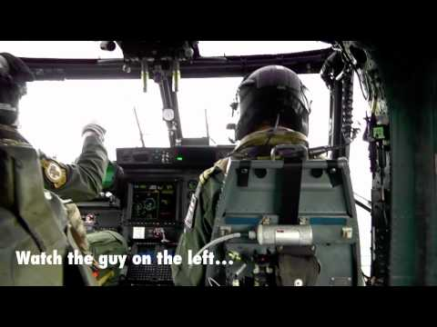 What happened when we sent newsreader George in a Lynx helicopter at RNAS Yeovilton