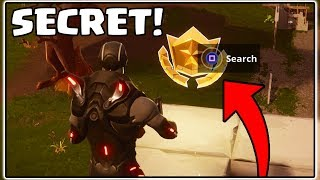 SECRET BATTLE STAR LOCATION IN FORTNITE BATTLE ROYALE! (SEASON 4)