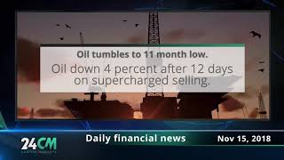24CM Capital Markets - Daily financial news - 15.11.2018 - Oil tumbles to 11 month low