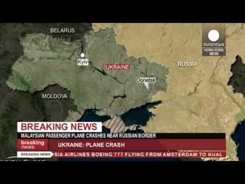 Malaysia Airlines plane 'shot down' in Ukraine near Russian border