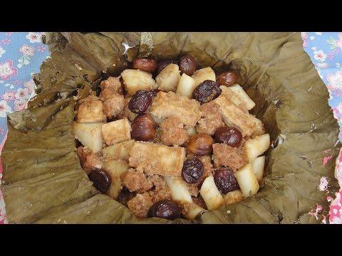 現代心素派-20140807 香積料理 - 荷香粉蒸、沙茶百菇燴寬條 - 在地好美味 - 水蒸蛋糕