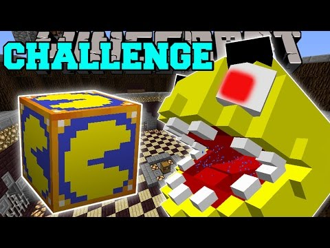Popularmmos minecraft pacman challenge games pat and jen lucky block