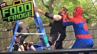8 MAN MONEY IN THE BANK WRESTLING LADDER MATCH!