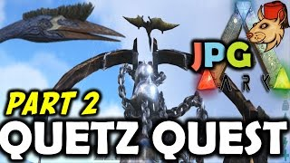 ARK Survival Evolved PS4 Let's Play #9 Quetz Thug Life - Can You Use Chain Bola's?