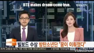 [Eng sub] Korean news BTS win the Billboard award.