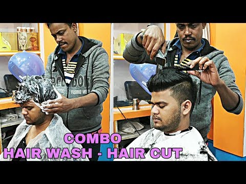 Hair cut with Trimmer & comb, Hair Wash with shampoo By Indian barber | Relaxing ASMR