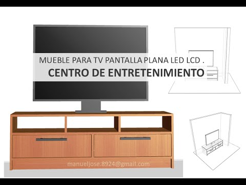 Dise os construir mueble para tv pantalla plana led lcd for Muebles de diseno moderno para tv