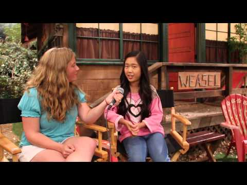 Nina Lu Interview at Bunk'd Press Set Visit