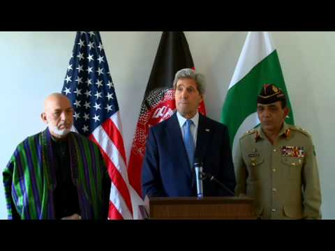 Secretary Kerry Delivers Remarks After a Trilateral Meeting with Afghan and Pakistani Officials