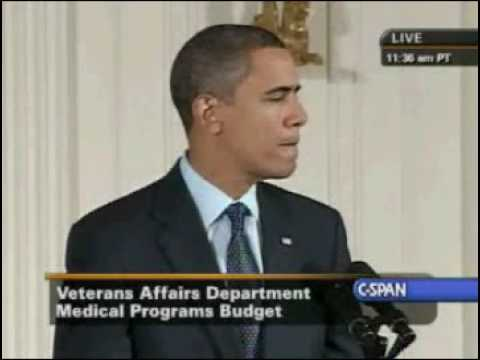 Pres. Obama Veterans Health Care Budget Reform  Act