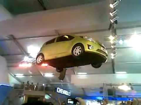 Flying Car Chevy (Chevrolet India) at the Delhi Auto Expo 2012 India.