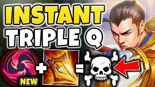 THIS NEW KEYSTONE MAKES XIN ZHAO GOD-TIER! (INSTANT Q STACKS) HAIL OF BLADES XIN - League of Legends