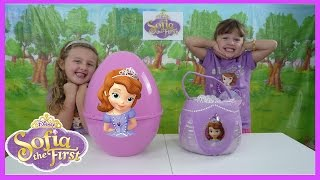 Princess Sofia the First Giant Egg Surprise + Sofia Surprise Basket Mashems + Blind Bags Toys