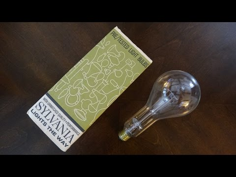 Old Sylvania 300watt Clear Incandescent Light Bulb